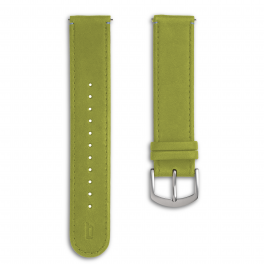 Leather strap - greenery-silver