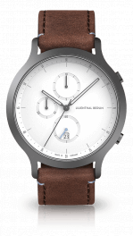 Chronograph - dark-silver-white-brown