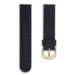 Leather strap - black-gold