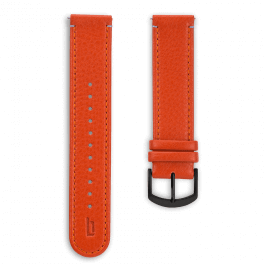 Leather strap - flame-black