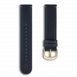 Leather strap - blue gold