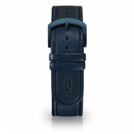 Leather strap - blue-blue