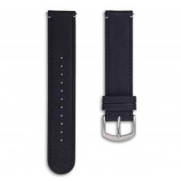 Leather strap - black-silver