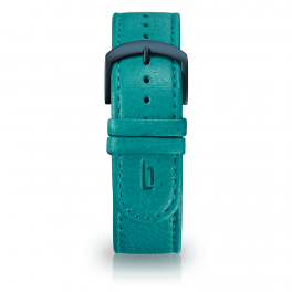 Leather strap - waikiki-blue