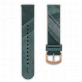 Fabric leather strap - city park-rosegold