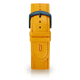 Leather strap - mango-tango-blue