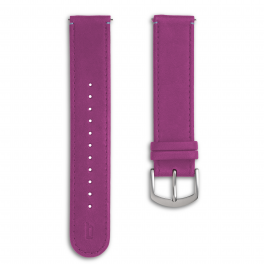 Leather strap - purpur-silver