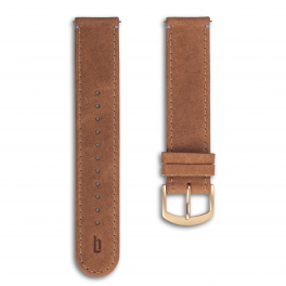 Leather strap - light-brown-gold