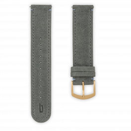 Leather strap - gray-gold