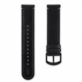 Leather strap - black-black