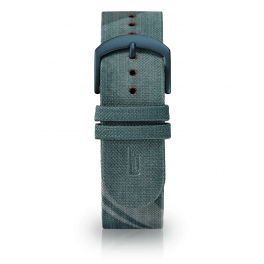Fabric leather strap - city park-blue